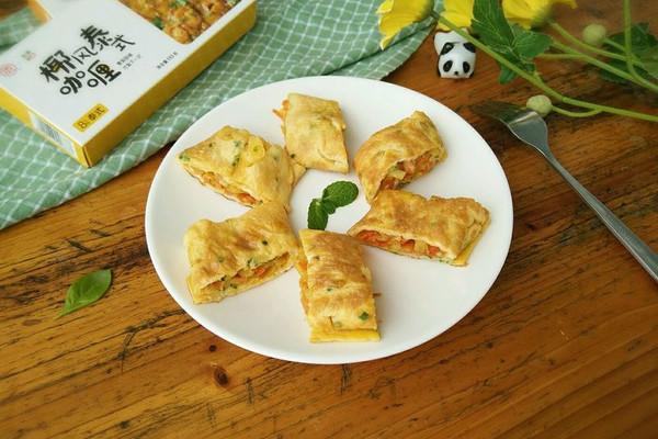 好吃到爆的——咖喱土豆鸡蛋卷#安记咖喱快手菜#的做法