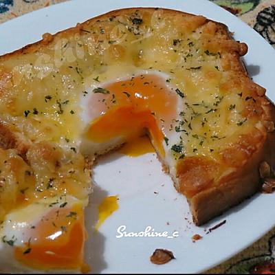 奶酪烤鸡蛋土司