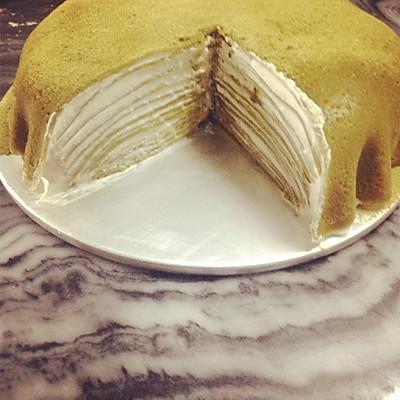 抹茶千层蛋糕的做法 步骤10