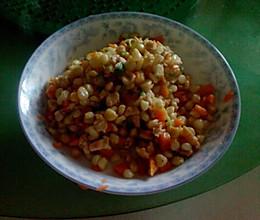 玉米炒鸡肉的做法