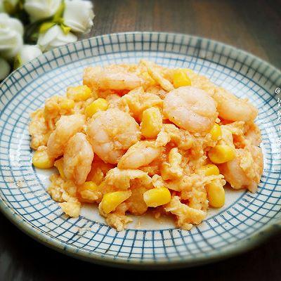 【10分钟懒人菜】玉米虾仁滑蛋