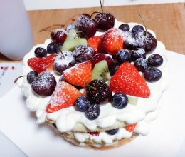 八寸水果奶油裸蛋糕的做法