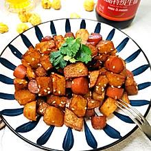 年夜饭菜单——孜然土豆火腿肠