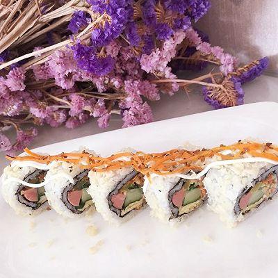 反卷脆花寿司