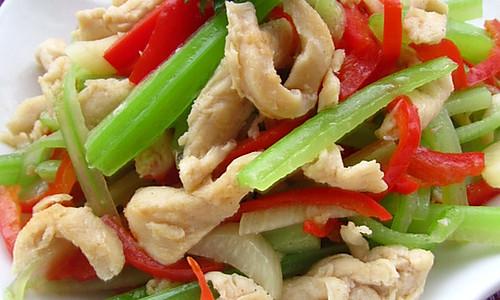 春意盎然富贵鸡---芹菜鸡丝的做法