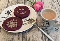 香甜的紫薯糯米饼的做法