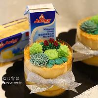 韩式多肉豆沙裱花蛋糕#安佳烘焙学院#