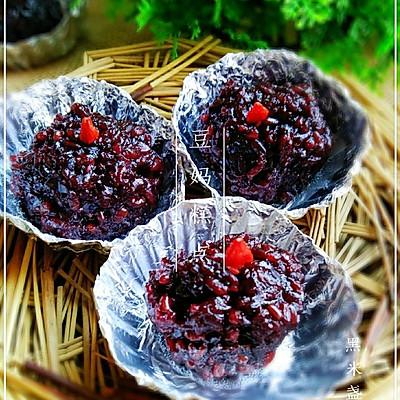 【黑米盏】——补血又养颜,电饭煲做出的简易小点