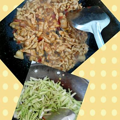 芹菜炒肉丝的做法 步骤3