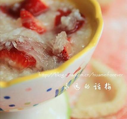 燕窝草莓粥的做法
