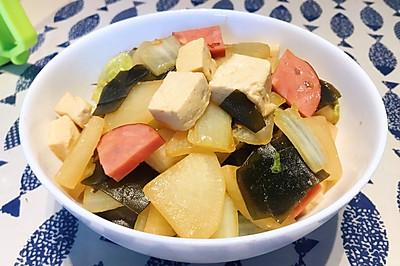 家常但好味——白菜萝卜烧海带