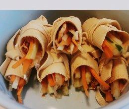 三丝豆皮卷的做法