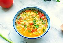 简单快手西红柿鸡蛋疙瘩汤的做法