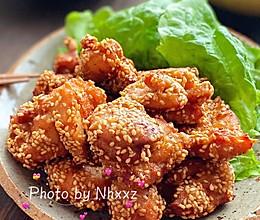 蒜香芝麻炸鸡的做法