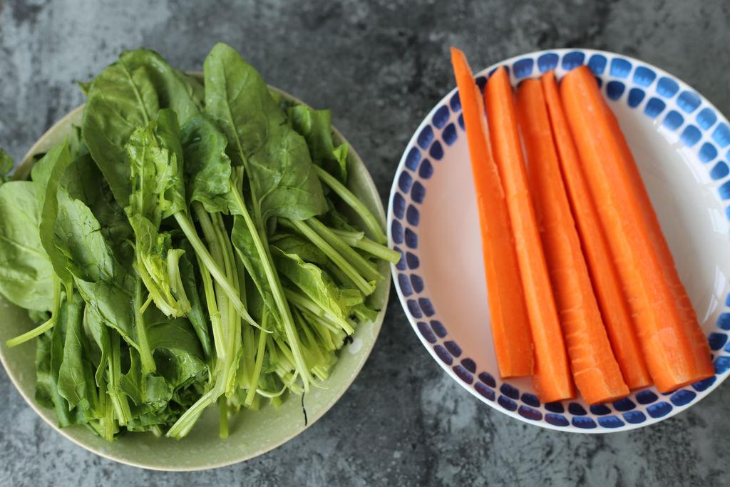 彩色蔬菜面的做法步骤