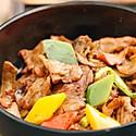 松茸菌生炒猪颈肉
