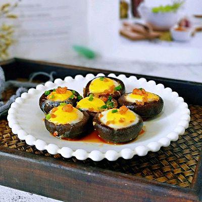 低脂快手~香菇酿蛋