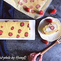 粉豹纹草莓蛋糕卷#松下多面美味#的做法图解20
