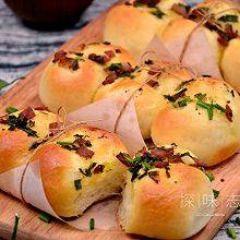 【香葱培根面包】——COUSS CO-660A智能烤箱出品