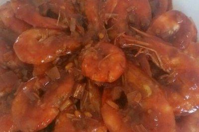 巧取虾线—油焖大虾