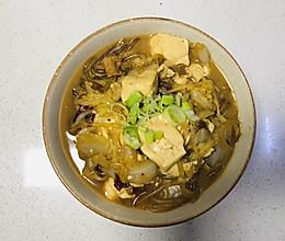 白菜炖豆腐的做法