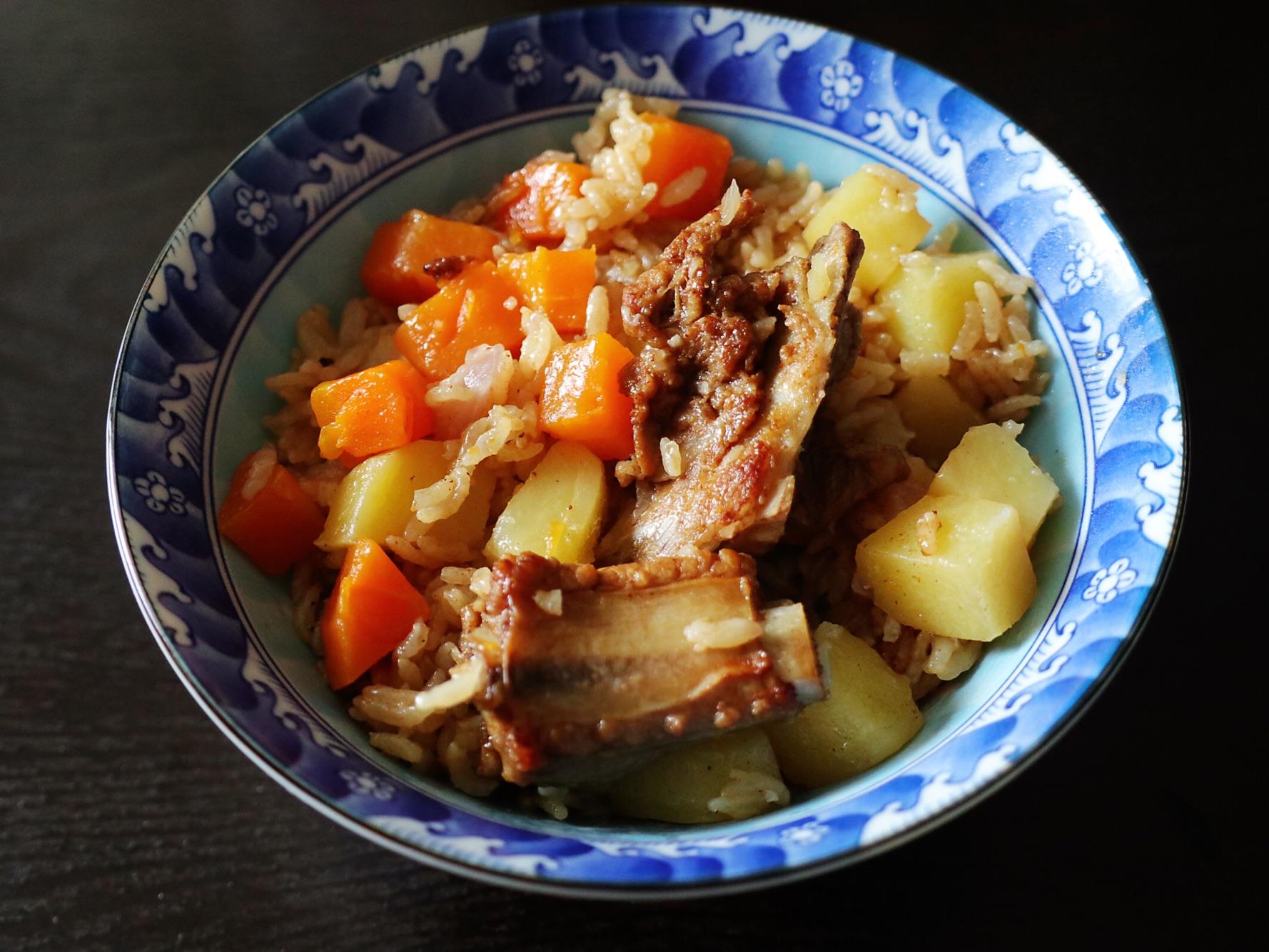 懒人版鲁菜排骨焖饭喜宴济宁土豆菜谱图片