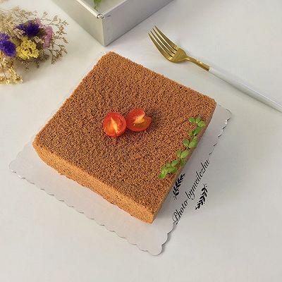 8寸方形可可戚风蛋糕