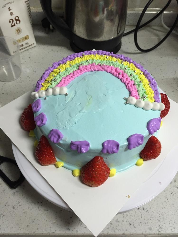 彩虹蛋糕的做法图解8