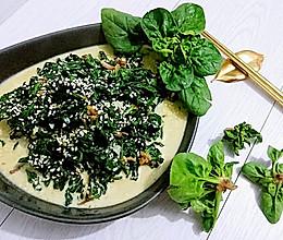 奶油芝麻菠菜【上海崇明岛矮脚小菠菜】的做法