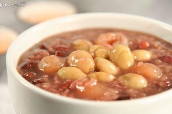 银杏红豆粥的做法
