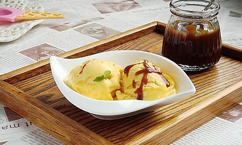 焦糖酱南瓜冰淇淋的做法