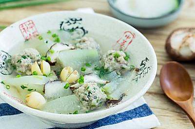 莲子冬瓜肉丸汤