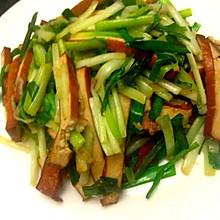 超简单下饭菜韭菜炒豆干