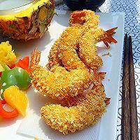 菠萝沙拉黄金虾的做法图解12