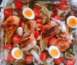 番茄烤鸡腿(烤箱菜)的做法