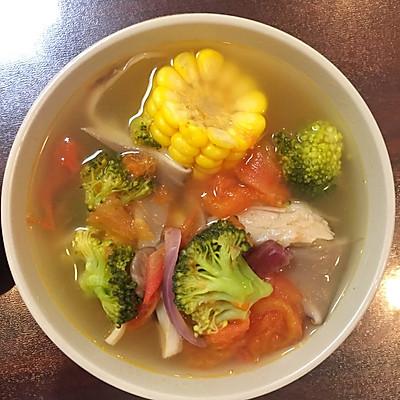 【低做法】一人餐清口大全汤的蔬菜-菜谱-豆果青母蟹的热量做法图片