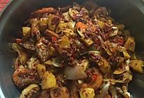 干锅土鸡爆大虾的做法