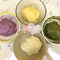 家好月圆-梦幻彩色冰皮月饼的做法图解7
