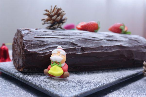 圣诞树桩蛋糕卷的做法