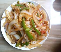 青椒西红柿炒洋葱的做法