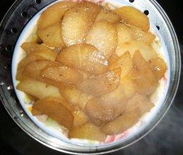白萝卜蒸肉的做法