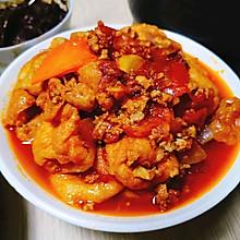 【家常菜】【下饭菜】——茄汁肉末油豆腐