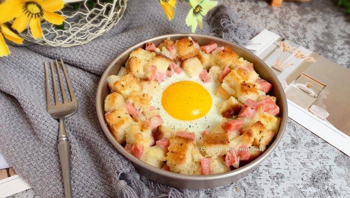 香肠吐司太阳蛋#520,美食撩动TA的心!#