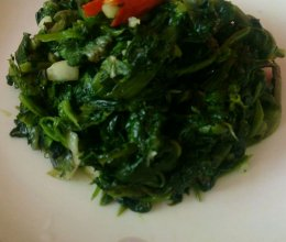 凉拌蒲公英野菜的做法