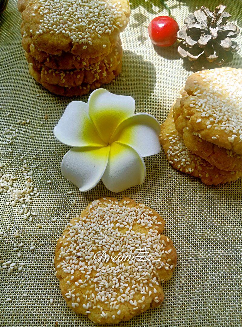 玉米面麻饼的做法图解1