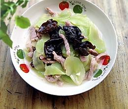 家常养生菜: 黑木耳窝笋炒肉丝的做法