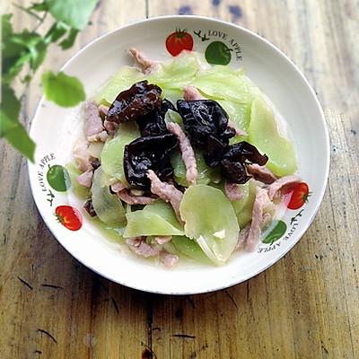 家常养生菜: 黑木耳窝笋炒肉丝