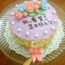 翻糖花榴莲蛋糕(6寸)