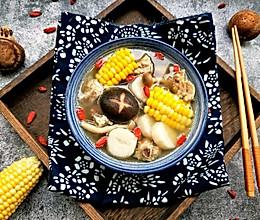 菌菇玉米山药排骨汤#春天肉菜这样吃#的做法