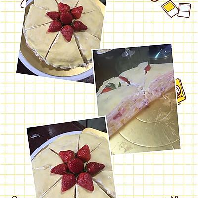 芒果草莓千层蛋糕